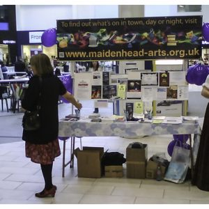 Maidenhead Arts Council Art on the Street Shopping Centre Stall