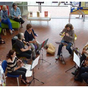 East Berks Recorder Players at Maidenhead Arts Council library exhibition